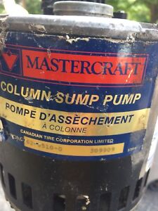 Sump pump with hose
