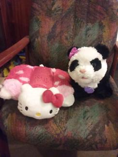 Walking panda plus hello kitty night star light vgc.