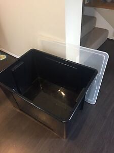 IKEA black large storage boxes Randwick Eastern Suburbs Preview