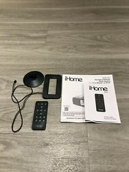 iHome iA90 Rz6 Remote Control and FM Radio Antenna w/ Manuals Alarm Clock Black