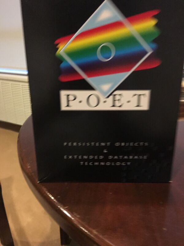 POET SOFTWARE . Persistent Objects & Extended Database Technology. Never Used