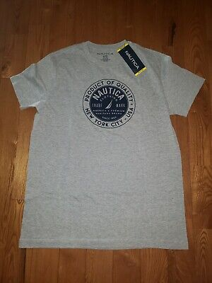 NWT Men's Fog Heather NAUTICA Graphic T-Shirt Size Medium M