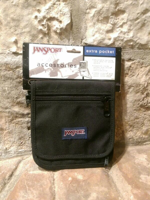 "JanSport Accessories ""Extra Pocket"" Travel Pouch Bag Wallet Black Cordura Nylon"