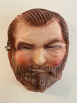 Vintage 1940's Bearded Man Gauze Halloween Costume Mask