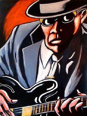 JOHN LEE HOOKER PRINT poster epiphone guitar best delta blues cd chess chillin