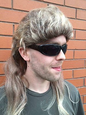 Dog the Bounty Hunter style wig and glasses fancy dress outfit Halloween funny - Dog Bounty Hunter Wig