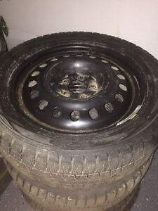 18 inches Tires 245/45R18 and Rims used 1 winter only!