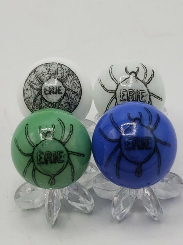 Lot Of 4 Erie Cast Iron Multiple Spider Skillet Logo Assorted Marble Collectible