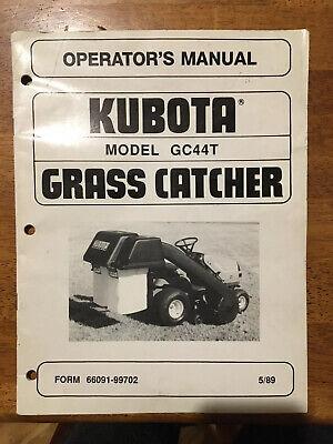 Kubota Gc44t Grass Catcher Operators Manual - 16 Pages
