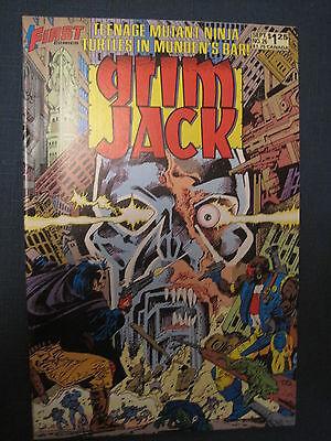 GRIM JACK 26 : RARE, EARLY TEENAGE MUTANT NINJA TURTLES STORY. 1986. FIRST
