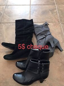 Bottes 5$ chacune