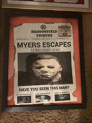 Michael Myers 1978 News Print  - Michael Myers Props