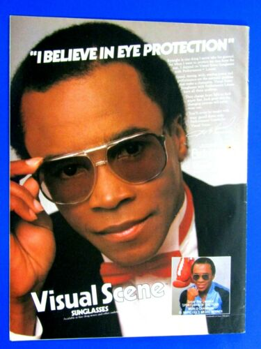 Sugar Ray Leonard 1983 Visual Scene Sunglasses Original Print Ad-8.5 x 11