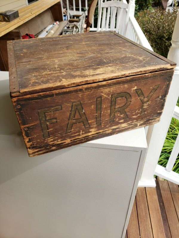 Fairbanks Fairy Soap Antique Counter Display Box advertising crate wood