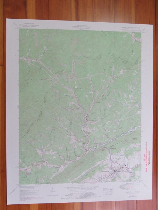 Pennington Gap Virginia 1970 Original Vintage USGS Topo Map