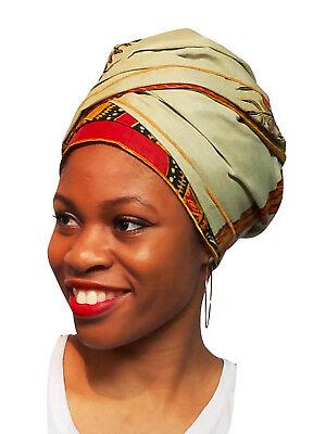 Laurel Green Dashiki African Print Ankara Head wrap, Tie, scarf DP3768