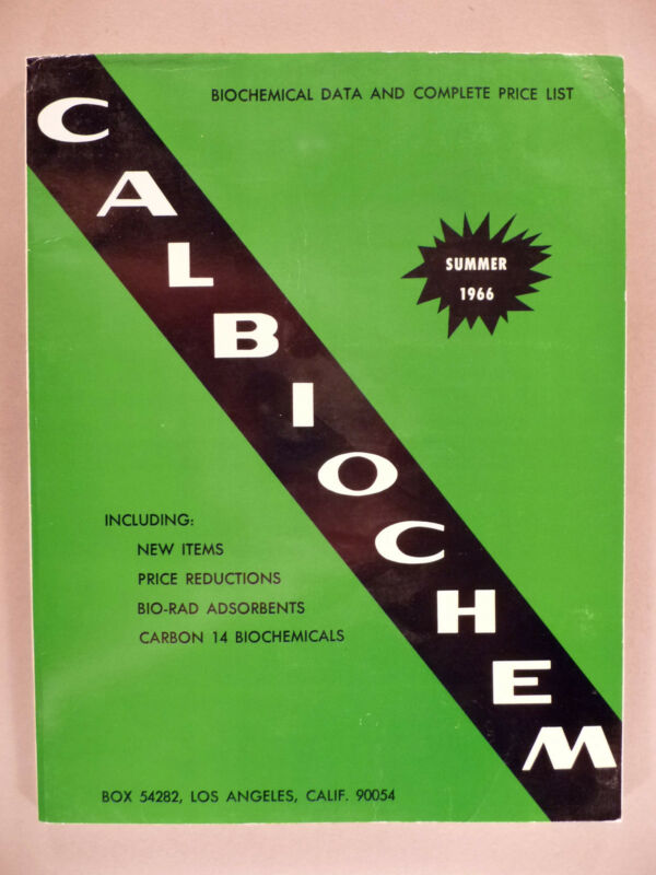 Calbiochem CATALOG - Summer, 1966 -- nice condition ~~ carbon 14 biochemicals