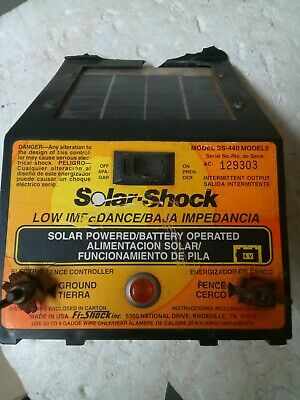 Solar-shock Electric Fence Energizer Model Ss-440 Untested