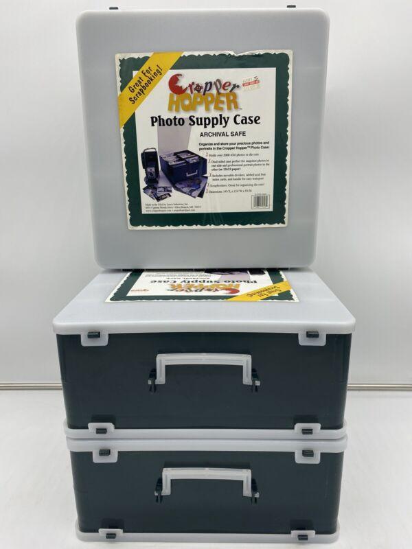 3 Cropper Hopper Photo Supply Cases Organization System Archival Safe Scrapbook