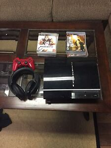 PS3 with 1 controller 9 games and Sony headset Kitchener / Waterloo Kitchener Area image 1