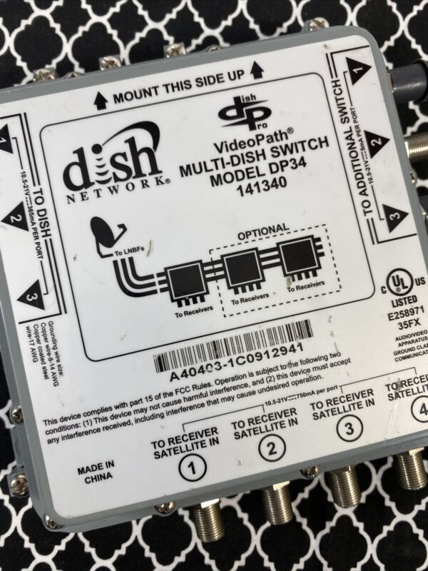 DISH PRO DP34 DP-34 MUTLI-DISH SWITCH VideoPath MULTISWITCH Used Indoors 141340