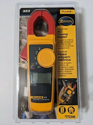 Fluke 323 True-rms Clamp Meter With Case Leads Brand New