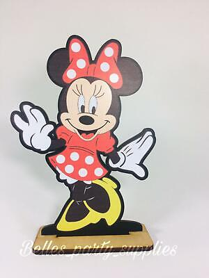 """10"""" Minnie Mouse Wood Stand Centerpiece Party Table Child Birthday Decoration"""