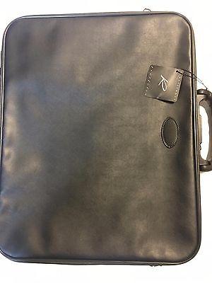 Filexec M3 Simulated Leather Portfolio Zipper Closure 2 Interior Pocketsblac