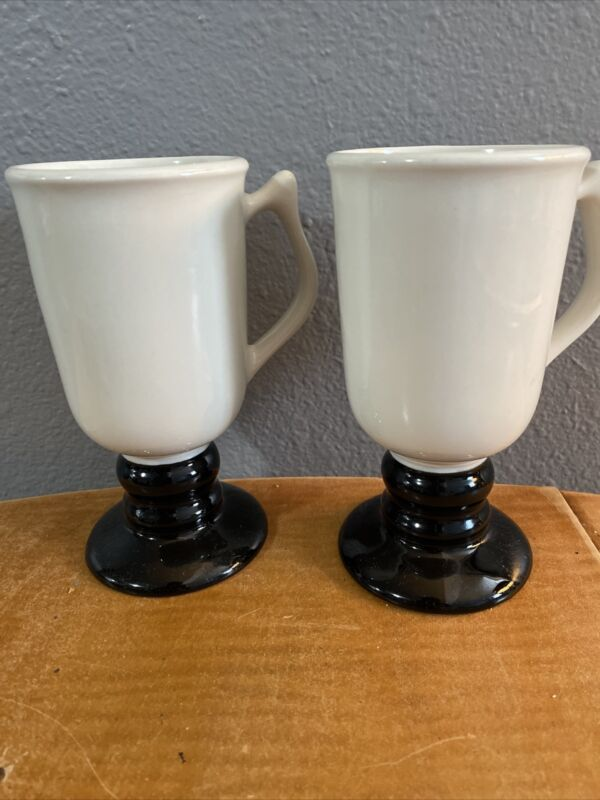 Pair Of Hall Pottery Irish Coffee Mugs, #1272