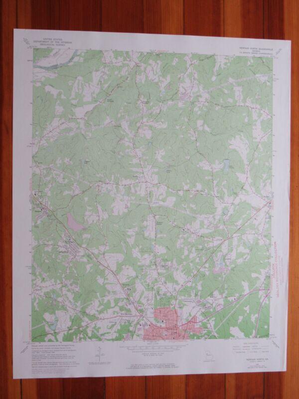 Newnan North Georgia 1974 Original Vintage USGS Topo Map