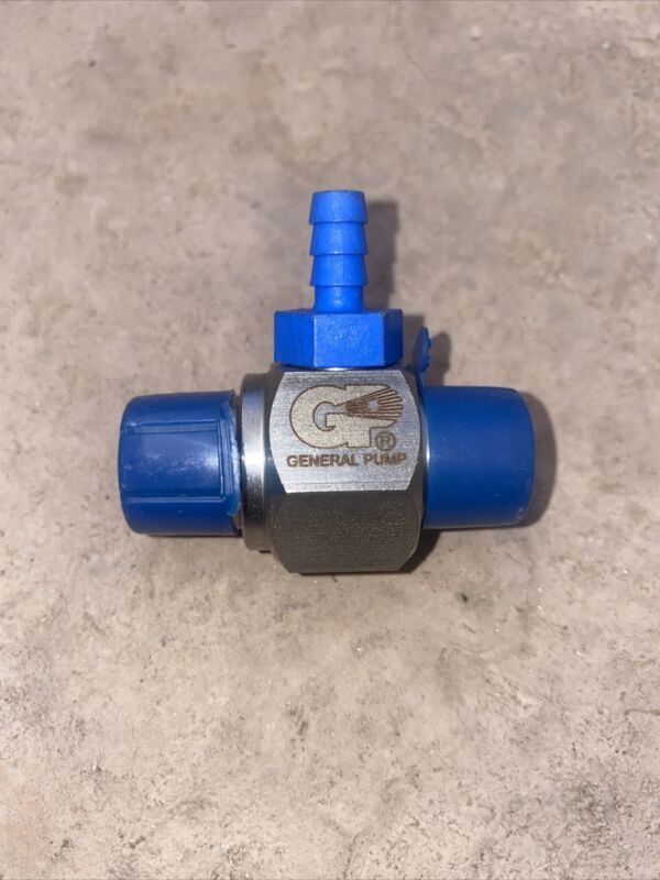 General Pump 100333BL Blue Hose Barb Stainless Steel Chemical Injector - .087 In