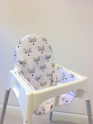 """Sitzkissen """"Füchse"""" für Ikea Antilope Hochstuhl, u.v.m., 2-seitig"""