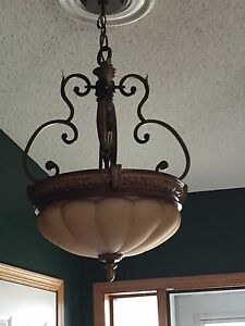 Ceiling fans and light features