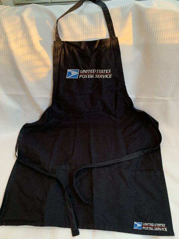 USPS Postal Apron With Postal Logo Embroidered Adjustable with Pockets NAVY BLUE