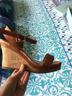 969b2c804cb8 Brand new Sambag Erika tan wedges size 39