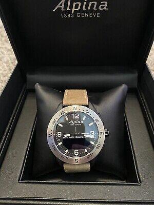 NEW Alpina AL-283LBBW5SAQ6 Men's AlpinerX Light Brown Strap Quartz Watch NIB