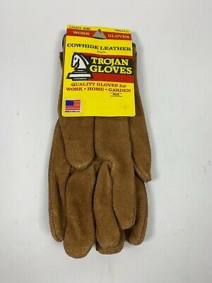 Trojan Leather Gloves Size Small Ladies Smooth Leather Work Gloves Garden