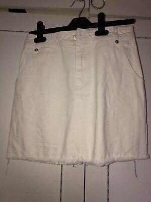 Vintage Honey Belle White Denim Skirt Size S