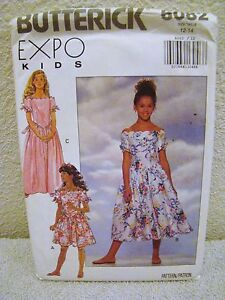 Butterick #6082 Uncut Sewing Pattern - Girls' Dress - Size 12-14, Expo Kids