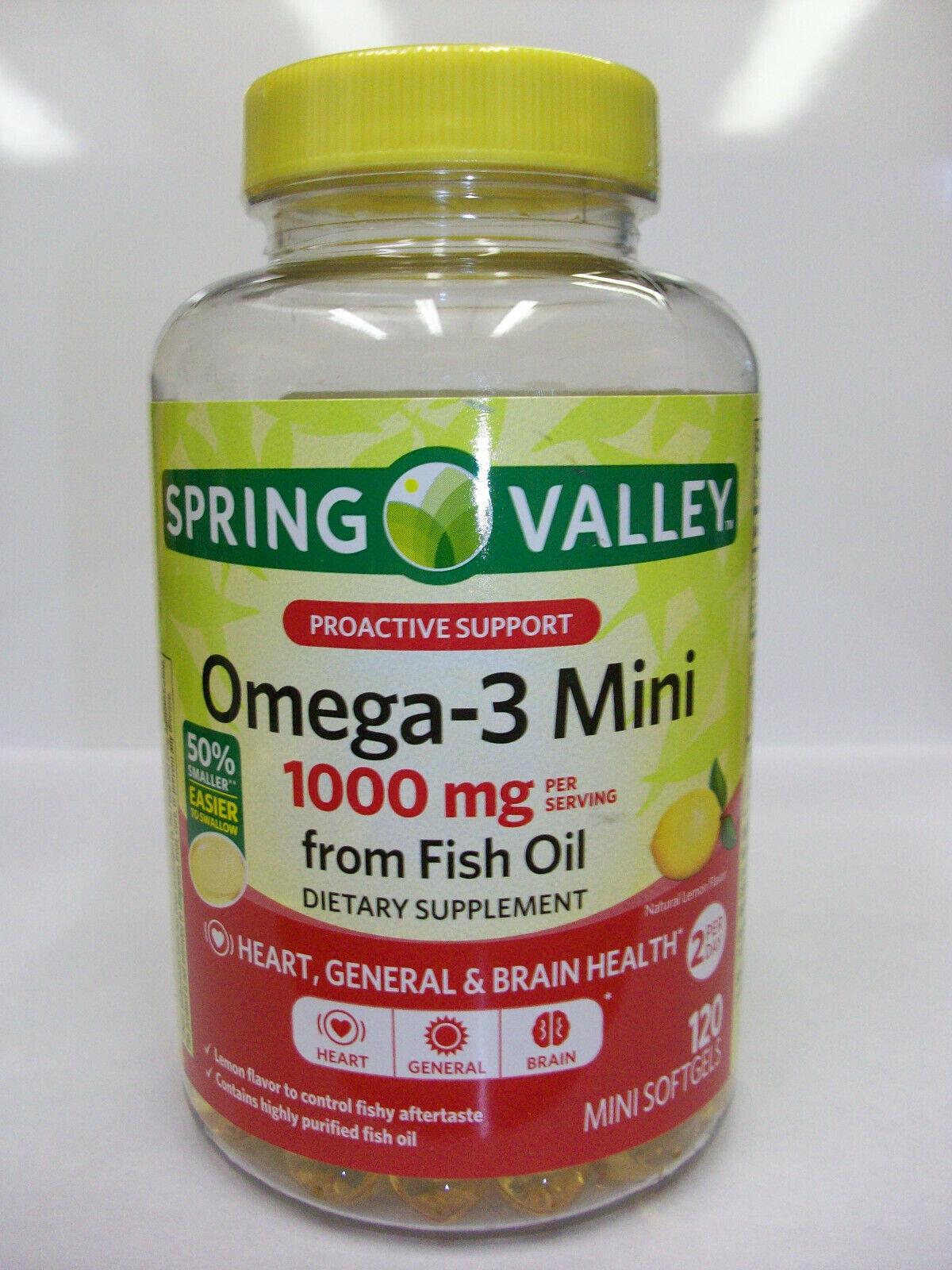 Spring Valley Omega-3 Mini  1,000 mg  120 Mini Softgels