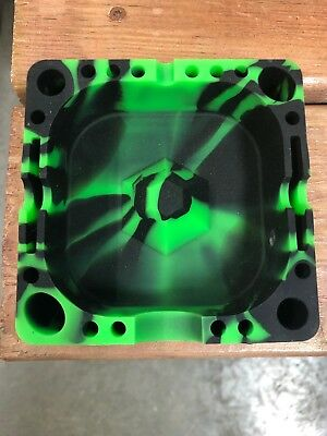 NEW! Beamer - Silicone Ashtray - Green & Black Limited Edition