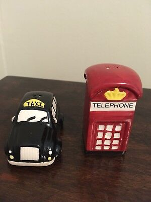 Novelty Salt and Pepper Shakers, Taxi and A Phone Booth