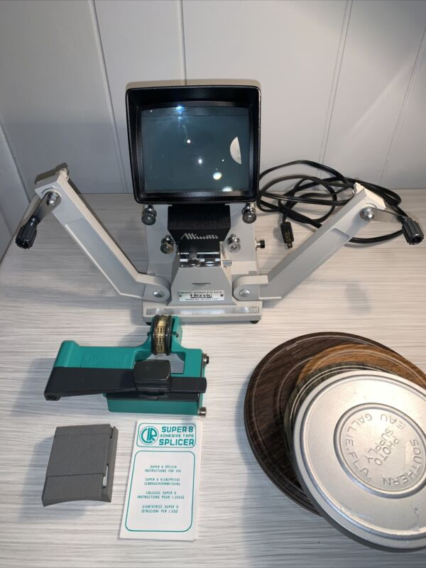 Professional MINETTE SUPER 8 VIEWER Editor & Splicer + Everything You See. Works