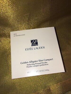 Estee Lauder Pressed Powder (Estee Lauder Golden Alligator Slim Compact Pressed Powder Puder Dose 3,08 g)