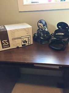 Sims lithium black snowboard bindings