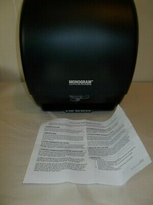 Monogram Paper Towel Roll Dispenser Automatic Hands Free Black