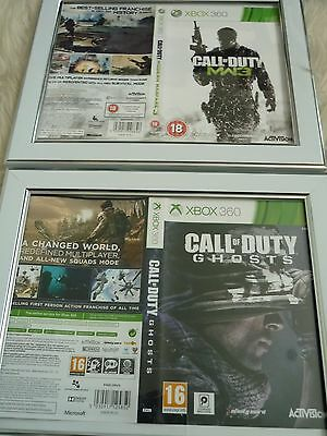call of duty ghosts & modern warfare 3 xbox 360 sleeves Wall mounted Framed