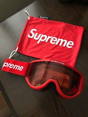 Supreme Smith Collaboration Cariboo OTG Ski Goggles Red (Used For Decoration)
