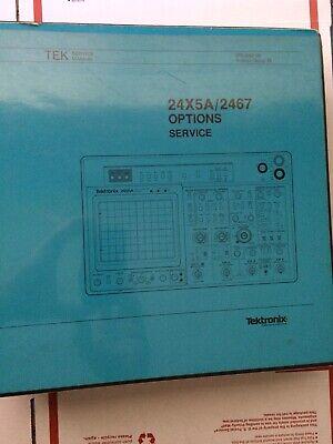 Options Service Book For 2445a 2465a 2467 Tektronix Oscilloscope 070-5857-00