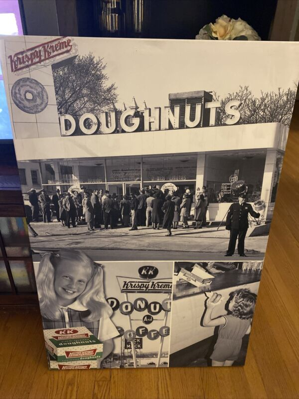 """Authentic Krispy Kreme Doughnut Wall Canvas From Store 45.5 By 30"""" Man Cave"""